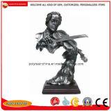Standbeelden van het Beeldje van de Hars van de Douane van de fabriek de Poly Abstracte met Brons of Zilveren Kleuren