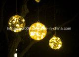 15см в диаметре LED стеклянная колба с 15ПК Pearl Lightchain декоративного освещения строки со стеклянными шаровой шарнир