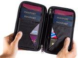 Держатель пасспорта семьи бумажника устроителя документа случая застежки -молнии перемещения водоустойчивый