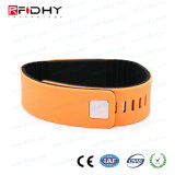 13.56MHz justierbarer SilikonNtag216 passiver RFID Wristband