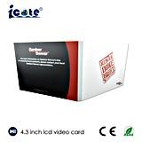 LCD 광고를 위한 영상 인사장, Vidoe 카드 브로셔