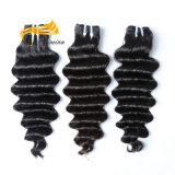 バージンのマレーシアの毛の卸売のクチクラによって一直線に並べられるバージンの毛