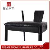 現代黒い喫茶店のレストランの椅子の金属の家具