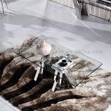 비친 유리제 코너 테이블 측 테이블 인도 디자인 찬장