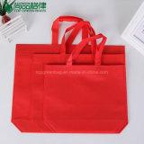 Emballage estampé non tissé réutilisable fait sur commande de sacs à provisions d'Eco de prix bas