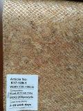 Cuoio del tessuto del sughero naturale con il nuovo reticolo di disegno per la decorazione dei sacchetti dei pattini (K18-01)