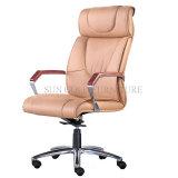 Mobiliário de escritório alta cadeira de escritório em couro preto dimensões (SZ-OCE163)