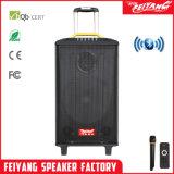 Altofalante poderoso de Systembig Bluetooth do karaoke recarregável portátil de Feiyang/Temeisheng/Kvg com 2 freqüências ultraelevadas Mic--Qx-1214