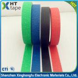 Niedriges klebriges kein Rückstand farbiges Krepp-Papier-selbsthaftendes Kreppband