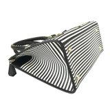 Lc-026 de hete Verkopende Gestreepte Elegante Schooltassen van de Handtas van Vrouwen Dame Shoulder Bags met het Borduurwerk van de Ananas