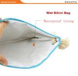 Sacchetti di frizione impermeabili della corda della canapa della stampa dell'anguria del fenicottero della sirena della borsa di modo delle donne del sacchetto della spiaggia del rivestimento