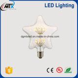 2200K Warm White 3W Vintage LED Bulb With Star Shape For Decoration