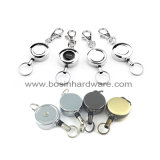 Silberne Identifikation-Metallabzeichen-Bandspule