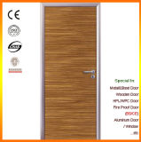 Porte en aluminium de chambre à coucher de bord de porte en bois affleurante de modèle