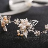 Cristal luxo acessórios de cabelo de casamentos simulados com alça Pearl Suite Cabelos Hairbands Vinha Crown