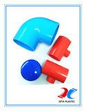 Coude de PVC 90 Dgree du grand diamètre 400mm avec la couleur bleue