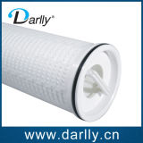 Gran cartucho de filtro de flujo de pliegues con fibra de vidrio para el tratamiento de agua planta de energía
