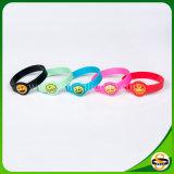 Zoll gedrucktes Firmenzeichen-Silikon-Armband für Kinder