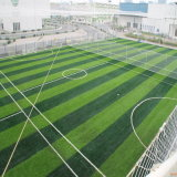 51mm de altura de forma cruzada para o campo de futebol de relva artificial