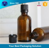 Gotero de aluminio de 10ml botella de aceite esencial de vidrio ámbar Envases para Cosmética