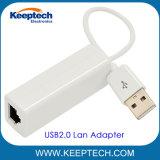 USB2.0 aan RJ45 10m/100m Adapter van het Netwerk Ethernet voor Laptop van PC