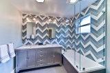 De de witte 3X12inch/7.5X30cm Verglaasde Glanzende Ceramische Badkamers van de Tegel van de Metro van de Muur/Decoratie van de Keuken