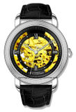 Reloj de lujo de los hombres con el reloj esquelético de la alta calidad