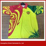 الصين صنع وفقا لطلب الزّبون مصنع اثنان لون لعبة البولو [ت] قميص لأنّ رجال ([ب75])