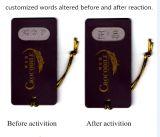 Le polymère de mémoire de forme a personnalisé des étiquettes de coup de vêtement pour la protection de marque