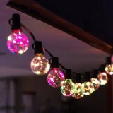 G40 Globleの銅線LEDのクリスマスストリングライト、E12球根の銅線が付いているLEDの花飾りストリングライト