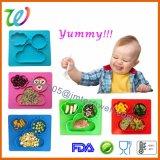 De Vrije Gezonde Baby Uit één stuk Placemats van het Silicone BPA