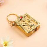Schlüsselketten-mini heilige Bibel geformtes Keychains Großhandels-Spaish