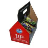 Для вторичной переработки бумаги логотип шесть бутылок вина пакета используйте флажки с ручкой