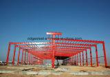 Edificio industrial de la fábrica del almacén hecho por el marco de la estructura de acero