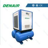 El compresor de aire eléctrico del tornillo con adicional/integró el tanque del aire