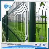 El PVC verde cubrió la fábrica soldada 3D de los paneles de la cerca del acoplamiento de alambre