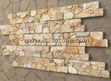 Revêtement de bois de placage de pierre naturelle de la culture de l'Ardoise pour décoration murale