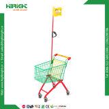 Carretilla de las compras de los cabritos del color del almacén del supermercado con el indicador