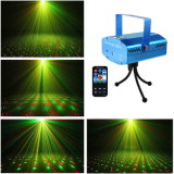 Fase della discoteca di telecomando che illumina le luci laser verdi