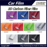 Fibra de carbono 3D coche de la película de vinilo adhesivo de vinilo blanco de la hoja de alquiler de películas