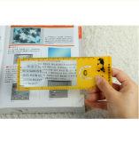 Loupe de carte de crédit à double amplification 3X 6X pour lecture âgée Hw-805A