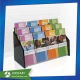 Nombre de la sugerencia de acrílico negro cuadro Colección de la tarjeta de donación de plexiglás caja con soporte de folleto