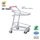 スーパーマーケットのための40L日本様式の買物車の二重シートの2層のショッピングトロリー