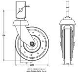 5 pouces Twin-Dish ascenseur avec méplat de la roue de la tige, de style européen