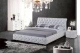 American Hotel Moderno mobiliário King cama em pele Chesterfield