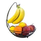 Cestino di frutta del metallo con l'amo della holding della banana