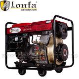 6kVA Air-Cooled 6kw de tipo abierto generador diesel para uso doméstico