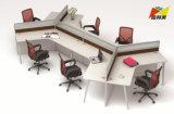 Fashion 120 Degré Station de travail de bureau en bois pour 6 personne