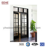 Residential Aluminum Double Leaf Swing Entry Doors Glass Doubles Door