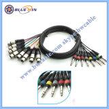 Weibchen des Schlange-Kabel-XLR 6.35mm Stereolithographiejack-zum PROsprechverbindung-Kabel